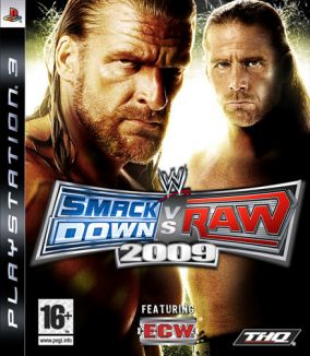 Copertina del gioco WWE Smackdown vs. RAW 2009 per PlayStation 3