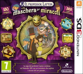 Immagine della copertina del gioco Il Professor Layton la Maschera dei Miracoli per Nintendo 3DS