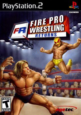 Copertina del gioco Fire Pro Wrestling Returns per PlayStation 2