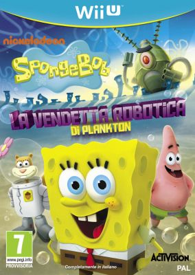 Immagine della copertina del gioco SpongeBob SquarePants: La Vendetta Robotica di Plankton per Nintendo Wii U