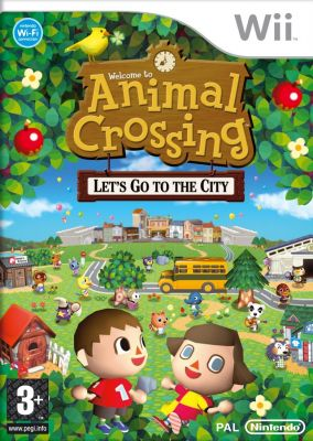 Immagine della copertina del gioco Animal Crossing: Let's go to the City per Nintendo Wii