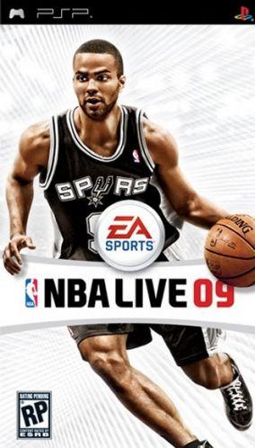 Immagine della copertina del gioco NBA Live 09 per PlayStation PSP