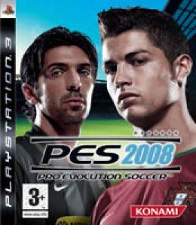 Immagine della copertina del gioco Pro Evolution Soccer 2008 per Playstation 3