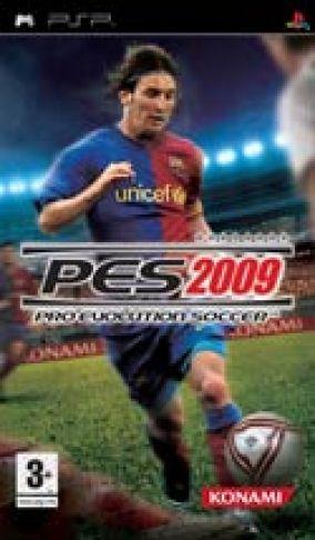 Immagine della copertina del gioco Pro Evolution Soccer 2009 per Playstation PSP