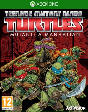 Copertina del gioco Teenage Mutant Ninja Turtles: Mutanti a Manhattan per Xbox One