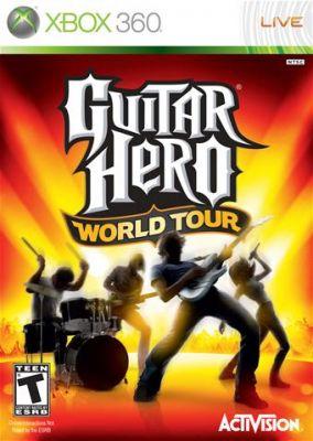 Copertina del gioco Guitar Hero: World Tour per Xbox 360