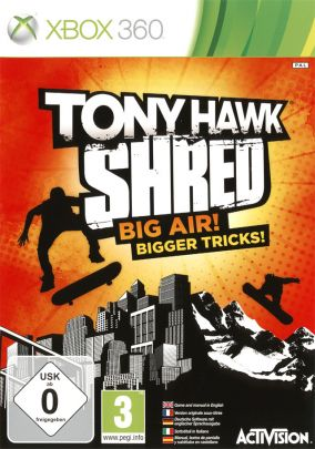 Copertina del gioco Tony Hawk: Shred per Xbox 360