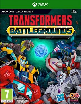 Copertina del gioco Transformers: Battlegrounds per Xbox One