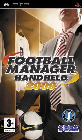 Immagine della copertina del gioco Football Manager Handheld 2009 per PlayStation PSP