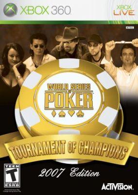 Copertina del gioco World Series of Poker Tournament of Champions 2007 Edition per Xbox 360
