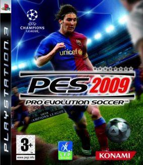 Immagine della copertina del gioco Pro Evolution Soccer 2009 per Playstation 3
