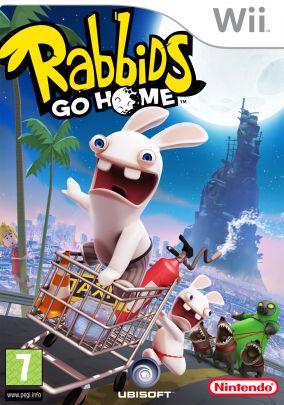 Immagine della copertina del gioco Rabbids Go Home per Nintendo Wii