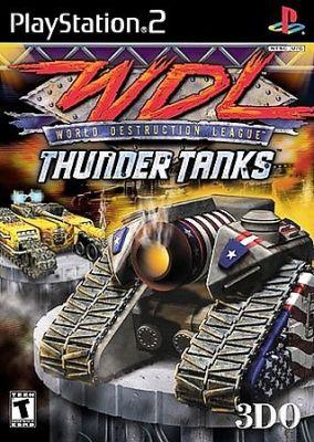 Copertina del gioco World Destruction League: Thunder Tanks per PlayStation 2