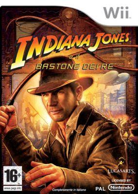 Immagine della copertina del gioco Indiana Jones e il Bastone dei Re per Nintendo Wii