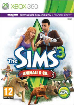 Copertina del gioco The Sims 3 Animali & Co per Xbox 360