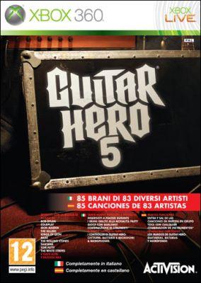 Copertina del gioco Guitar Hero 5 per Xbox 360