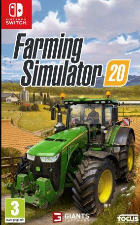 Immagine della copertina del gioco Farming Simulator 20 per Nintendo Switch
