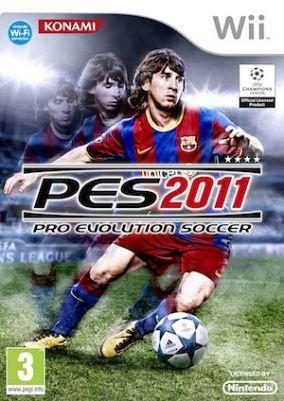 Immagine della copertina del gioco Pro Evolution Soccer 2011 per Nintendo Wii