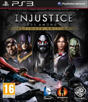 Copertina del gioco Injustice: Gods Among Us Ultimate Edition per PlayStation 3