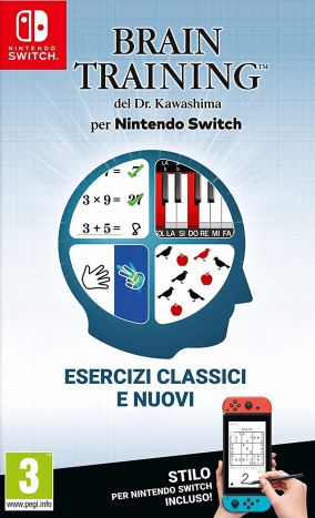 Copertina del gioco Brain Training del Dr. Kawashima per Nintendo Switch
