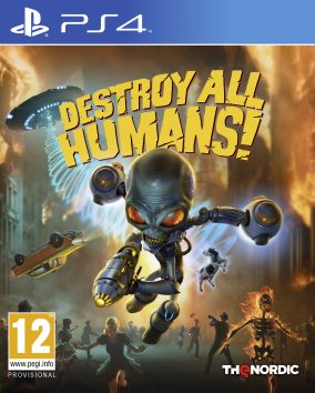 Copertina del gioco Destroy All Humans! per PlayStation 4
