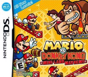 Immagine della copertina del gioco Mario vs Donkey Kong: Mini-Land Mayhem! per Nintendo DS