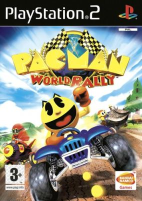 Immagine della copertina del gioco Pac-Man World Rally per PlayStation 2