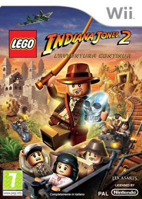 Immagine della copertina del gioco LEGO Indiana Jones 2: L'avventura continua per Nintendo Wii