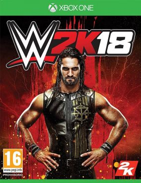 Immagine della copertina del gioco WWE 2K18 per Xbox One