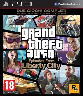 Copertina del gioco GTA: Episodes from Liberty City per PlayStation 3