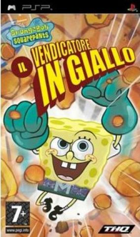 Immagine della copertina del gioco SpongeBob Squarepants: il Vendicatore in Giallo per PlayStation PSP