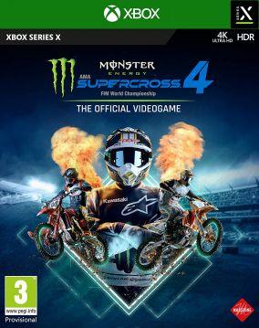 Immagine della copertina del gioco Monster Energy Supercross - The Official Videogame 4 per Xbox Series X