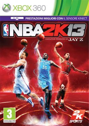 Immagine della copertina del gioco NBA 2K13 per Xbox 360