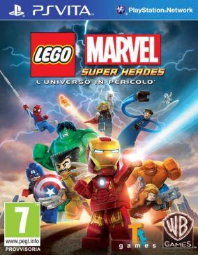 Immagine della copertina del gioco LEGO Marvel Super Heroes: L'Universo in Pericolo per PSVITA