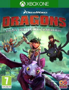 Immagine della copertina del gioco DreamWorks Dragons: L'alba dei nuovi cavalieri per Xbox One