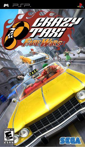 Immagine della copertina del gioco Crazy Taxi: Fare Wars per PlayStation PSP