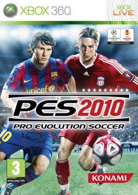 Immagine della copertina del gioco Pro Evolution Soccer 2010 per Xbox 360