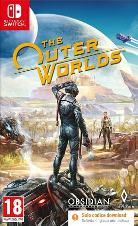 Copertina del gioco The Outer Worlds per Nintendo Switch