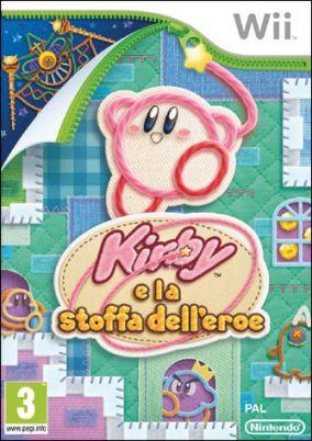 Immagine della copertina del gioco Kirby e la Stoffa dell'Eroe per Nintendo Wii