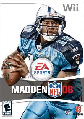 Immagine della copertina del gioco Madden NFL 08 per Nintendo Wii