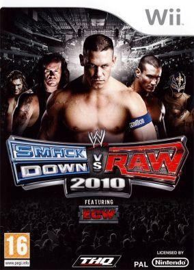 Immagine della copertina del gioco WWE SmackDown vs. RAW 2010 per Nintendo Wii