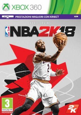 Immagine della copertina del gioco NBA 2K18 per Xbox 360