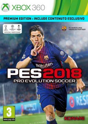 Immagine della copertina del gioco Pro Evolution Soccer 2018 per Xbox 360
