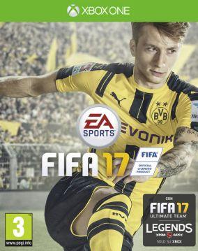 Immagine della copertina del gioco FIFA 17 per Xbox One