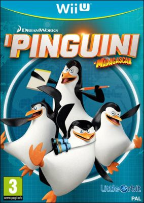 Copertina del gioco I Pinguini di Madagascar per Nintendo Wii U