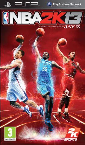Immagine della copertina del gioco NBA 2K13 per PlayStation PSP