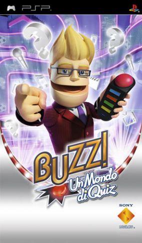 Immagine della copertina del gioco Buzz! Un Mondo Di Quiz per PlayStation PSP