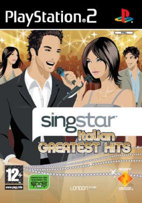 Immagine della copertina del gioco SingStar Italian Greatest Hits per PlayStation 2