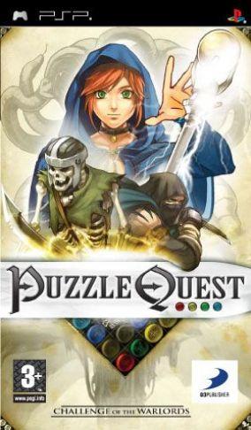 Immagine della copertina del gioco Puzzle Quest: Challenge of the Warlords per Playstation PSP