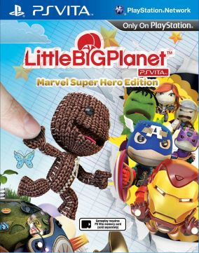 Copertina del gioco LittleBigPlanet Marvel Super Hero Edition per PSVITA